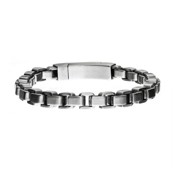 Stainless Steel Bold Box Bracelet