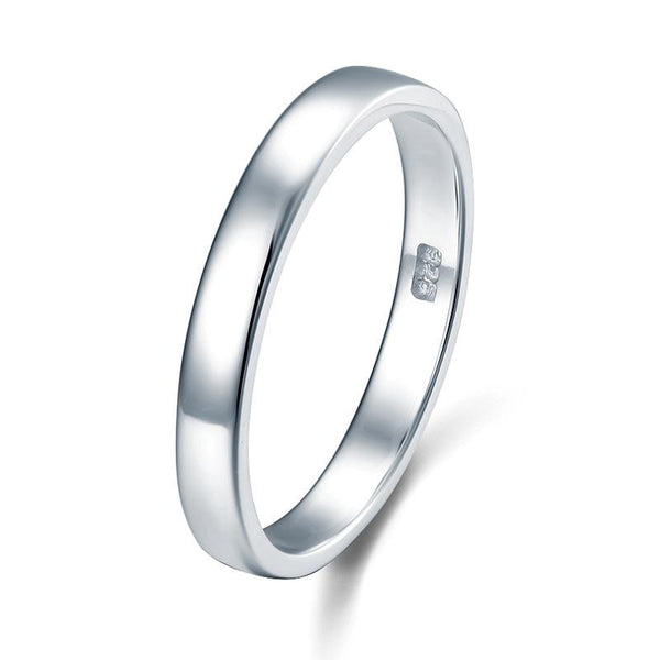 Classic Plain Solid Sterling 925 Silver Wedding Band Ring XFR8041