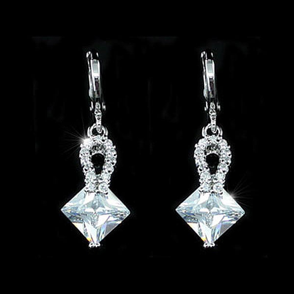 2 Carat CZ Cubic Zirconia Dangle Earrings XE399