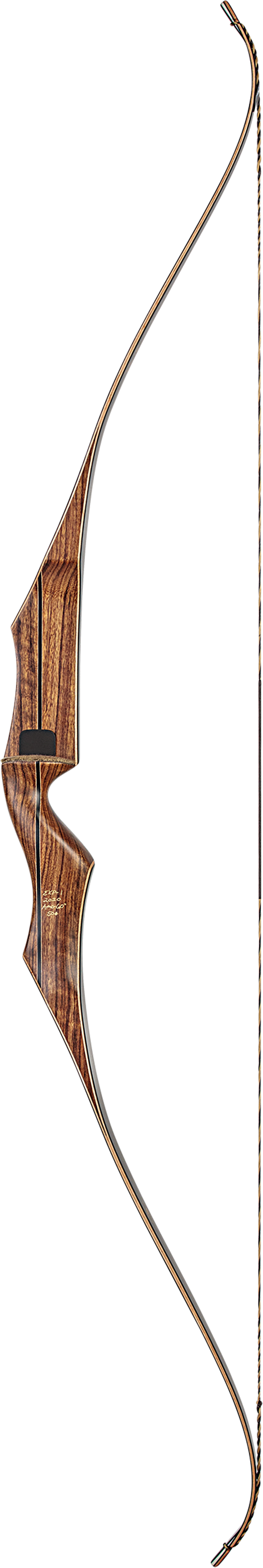"Bear Super Kodiak - 60"" - Black/Brown Maple - Satin - Left Hand - 55 Traditional Bow - Adult_1"