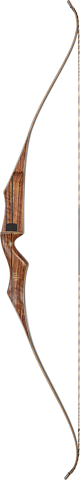 "Bear Super Kodiak - 60"" - Black/Brown Maple - Satin - Left Hand - 45 Traditional Bow - Adult_1"
