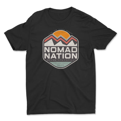 Nomad Nation Mountain Badge Kids Shirt