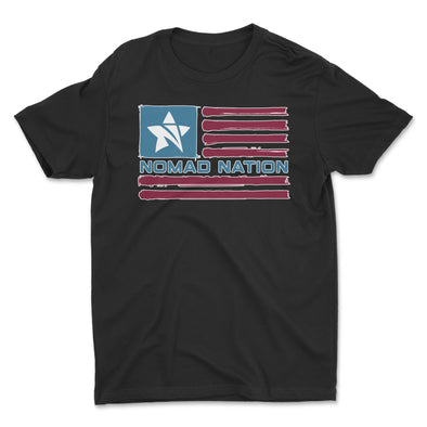 Nomad Nation Flag Logo Kids Shirt- Color