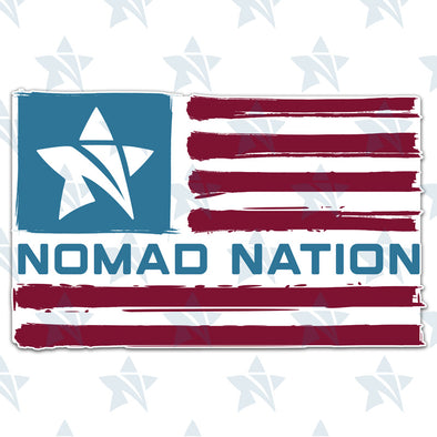 Nomad Nation Flag Sticker