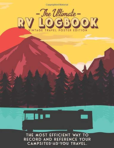 The Ultimate RV Logbook: Travel Poster Cover - Matte