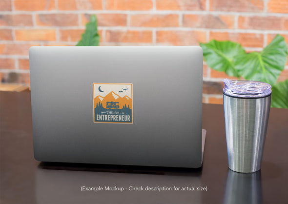 RV Entrepreneur Logo Sticker