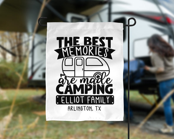 NSG The Best Memories Are Made Camping Flag