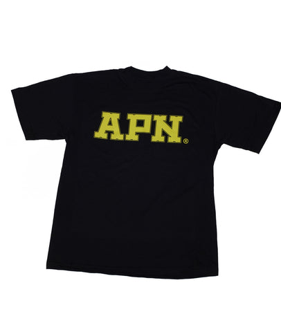 APN T-shirt Yellow on Black