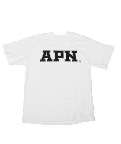 APN T-shirt Black on White