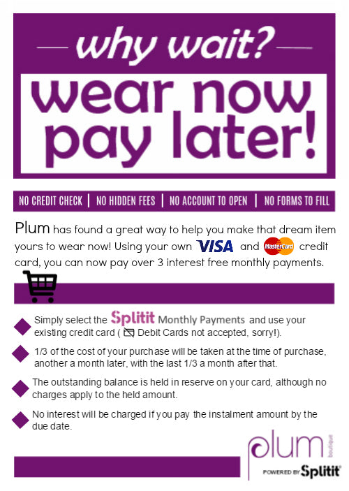Wear Now Pay Later fashion splitit