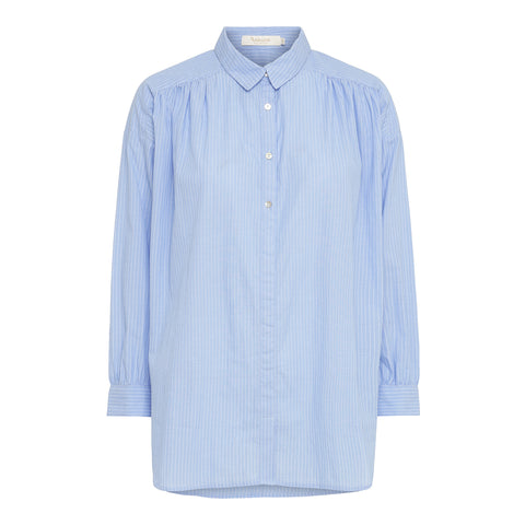 Rabens Saloner Cotton Blue Shirt