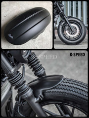 K-SPEED-RB0016 フロントフェンダー Rebel250, 300 & 500: Rebel Diablo Custom2: Rebel Black Armor