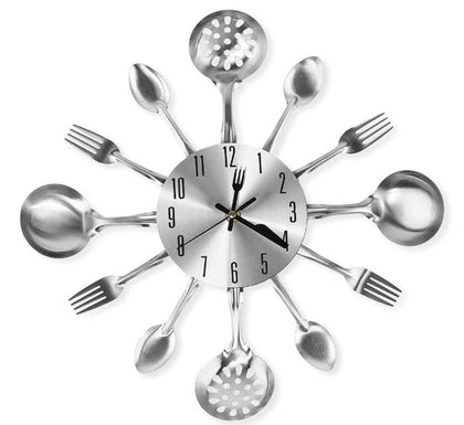 Cutlery wall clock stylish!