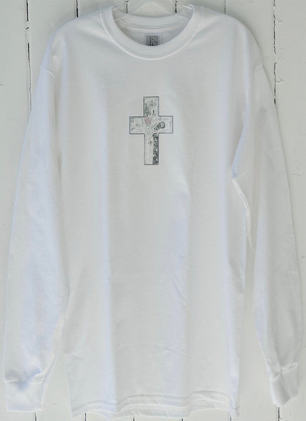 Collage Cross Long Sleeve T-Shirt