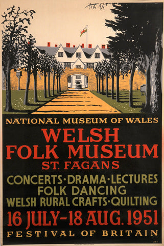 Welsh Folk Museum poster, 1951