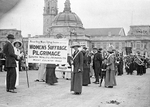 Members of Women's Suffrage Society Pilgrimage, Cathays Park, Cardiff, 1913 (2)
