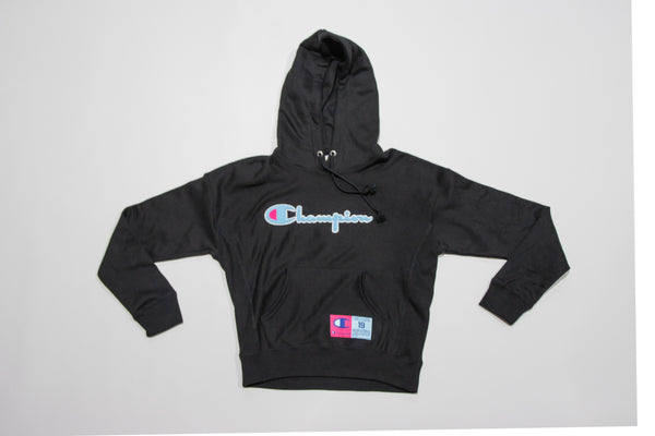 Womens' Pullover Hoody Blk/Teal