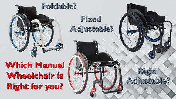 manual wheelchair different types foldable rigid adjustable