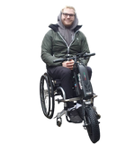 Triride Special Compact High Torque HT All Road wheelchair power assistance happy customer