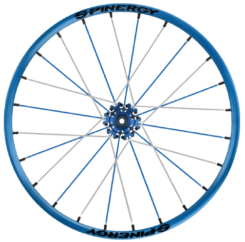 Spinergy Sport wheelchair wheel Light Extreme X Laced xslx blue
