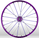 Spinergy Sport wheelchair wheel Light Extreme X Laced xslx purple white