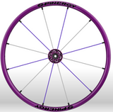 Spinergy Everyday Wheelchair Wheels: Light Extreme LX model purple purple white