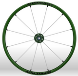 Spinergy Everyday Wheelchair Wheels: Light Extreme LX model green white