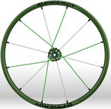 Spinergy xlx x laced wheelchair wheels all green white