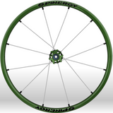 Spinergy xlx x laced wheelchair wheels green white