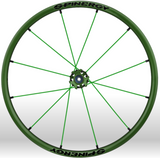 Spinergy xlx x laced wheelchair wheels all green