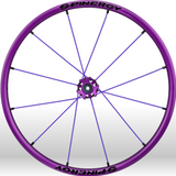 Spinergy xlx x laced wheelchair wheels all purple