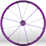 Spinergy xlx x laced wheelchair wheels all purple white