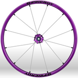 Spinergy xlx x laced wheelchair wheels purple white