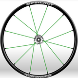 Spinergy xlx x laced wheelchair wheels green