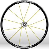 Spinergy xlx x laced wheelchair wheels yellow