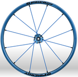 Spinergy xlx x laced wheelchair wheels all blue