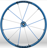 Spinergy xlx x laced wheelchair wheels all blue white