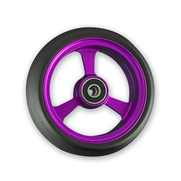 Frog legs WIDE soft roll wheelchair 5inch castor wheels purple