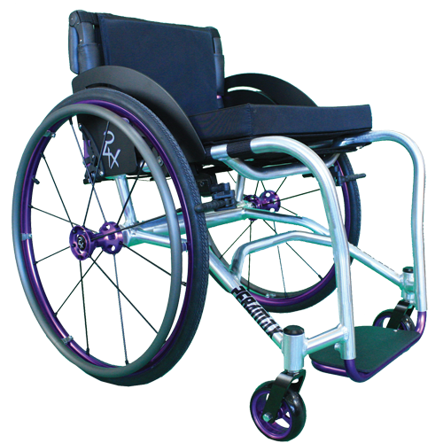 Per4max lightning manual rigid wheelchair purple