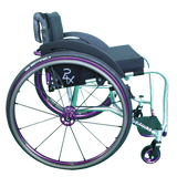 Per4max lightning manual rigid wheelchair purple side