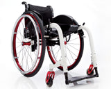 Progeo folding wheelchair lightweight ego white red