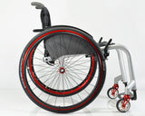 Progeo Joker Energy lightweight rigid wheelchair red wheel