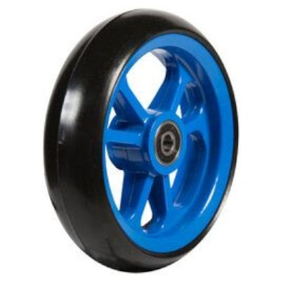 Fibrecore wheelchair castor wheel soft roll 5 inch blue