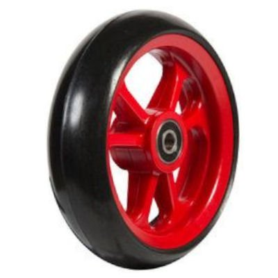 Fibrecore wheelchair castor wheel soft roll 4 inch red