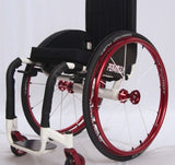 Per4max Skye lightweight manual rigid wheelchair red side