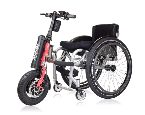 Triride Foldable power assistance for wheelchair users