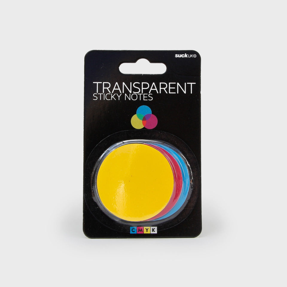 CMYK Sticky Notes transparent verpackt