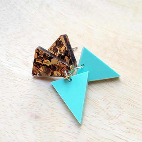Studded Triangle (chunky bronze)