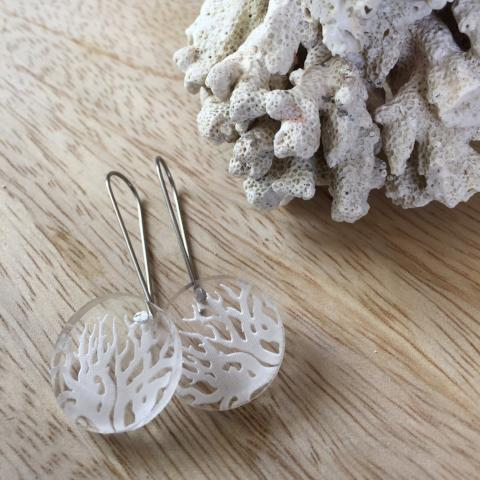 Etched Coral Drops