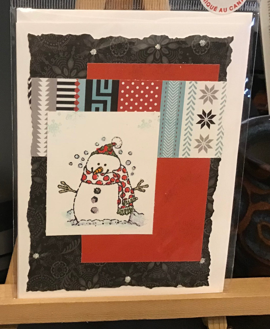 Snowman Winter Card/ Christmas Card / Friendship/ Winter Greeting/
